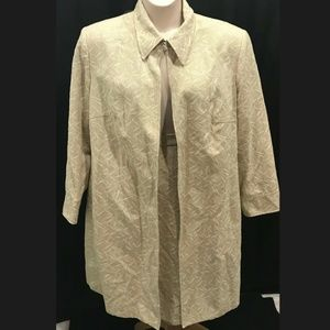 Harve Benard Sz 22W Beige Skirt Suit Vintage Plus